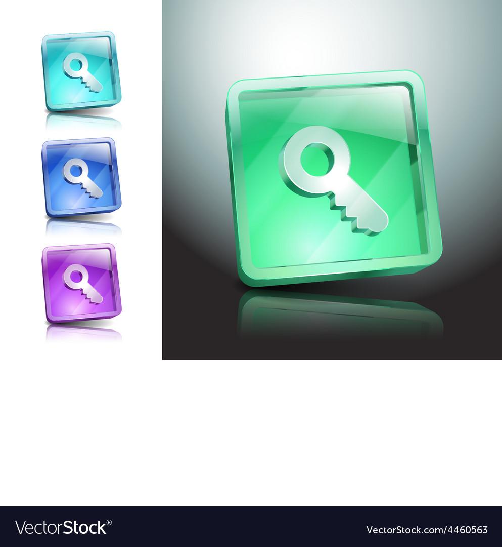 Key icon secure security web vector | Price: 1 Credit (USD $1)