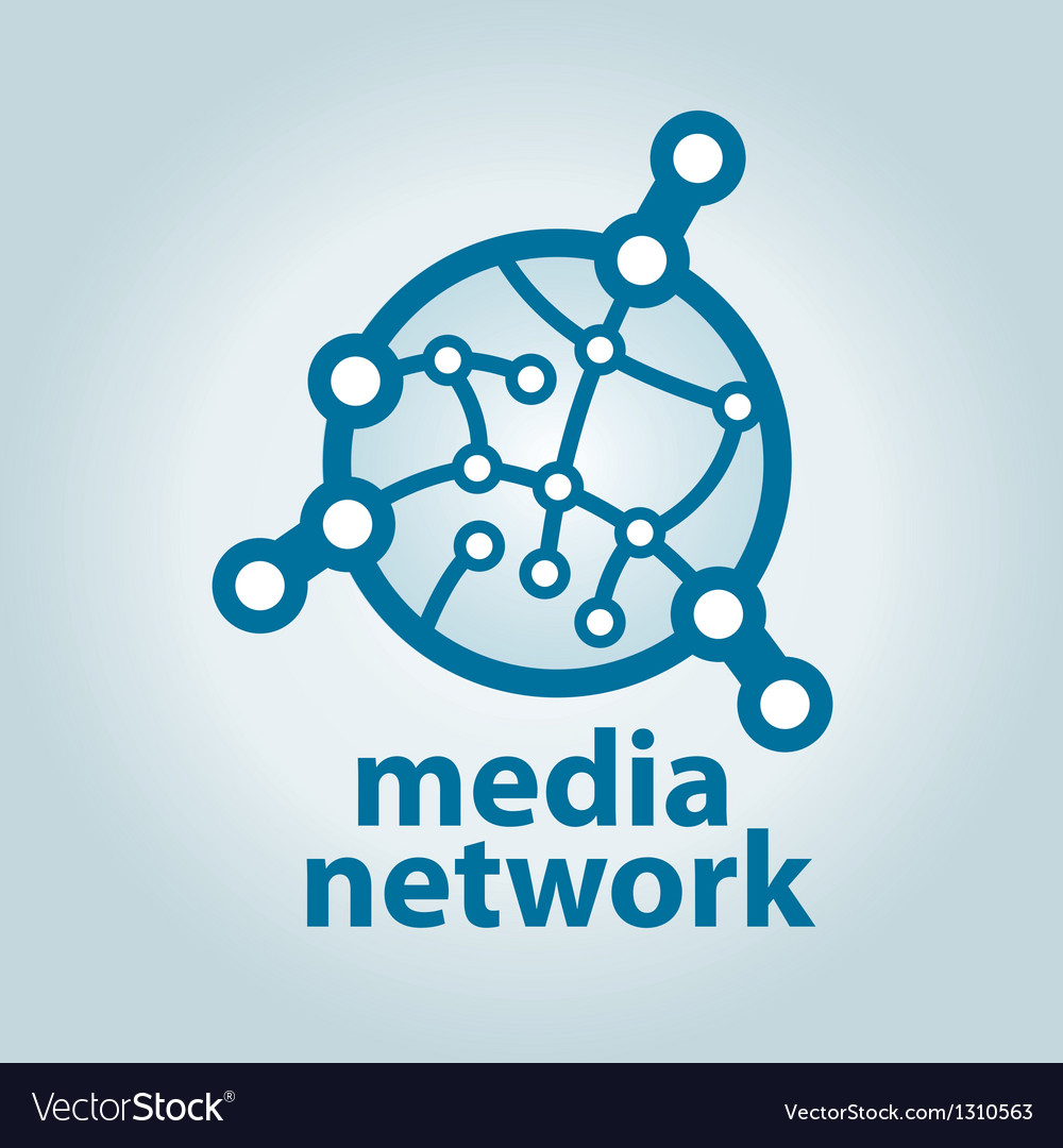 Logo and electronic media network vector | Price: 1 Credit (USD $1)