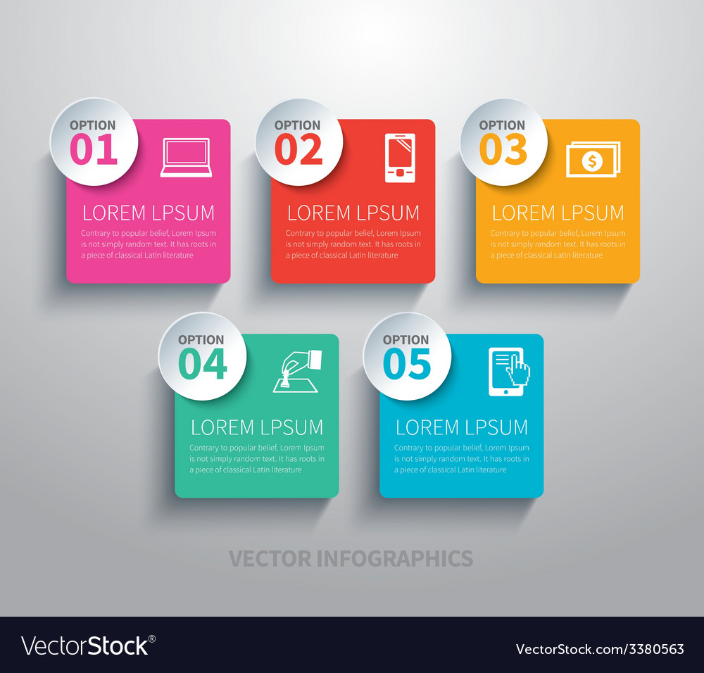 Paper circle and square infographic vector | Price: 3 Credit (USD $3)
