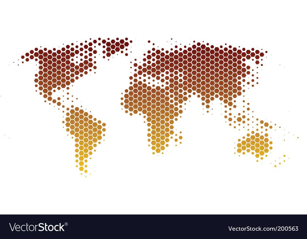 World map in hexagons vector   Price: 1 Credit (USD $1)
