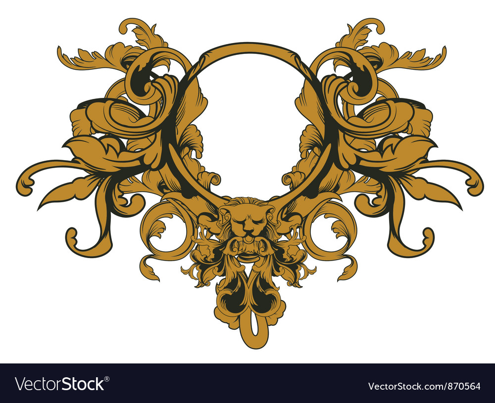 Baroque floral ornament vector | Price: 1 Credit (USD $1)