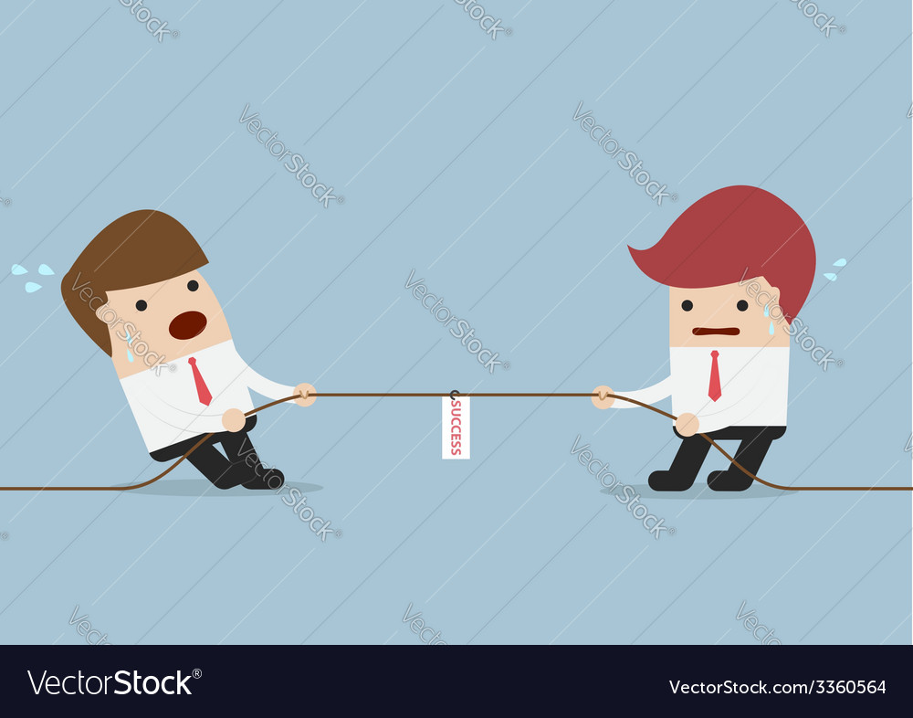 Businessmen in tug-of-war competition vector | Price: 1 Credit (USD $1)