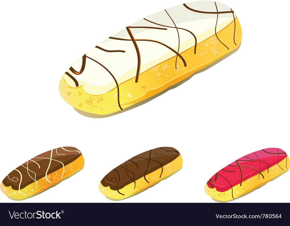 Eclair cake vector | Price: 1 Credit (USD $1)