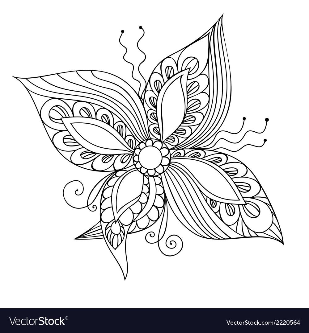Fantasie flower vector | Price: 1 Credit (USD $1)