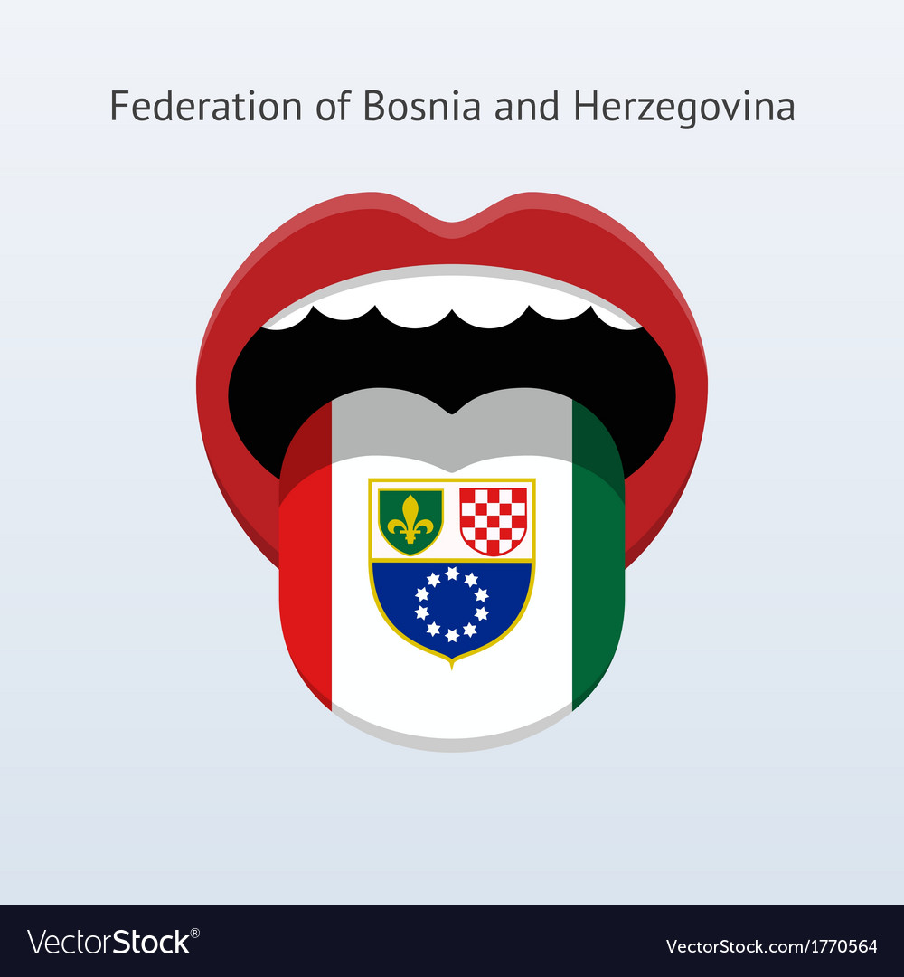 Federation of bosnia and herzegovina language vector | Price: 1 Credit (USD $1)