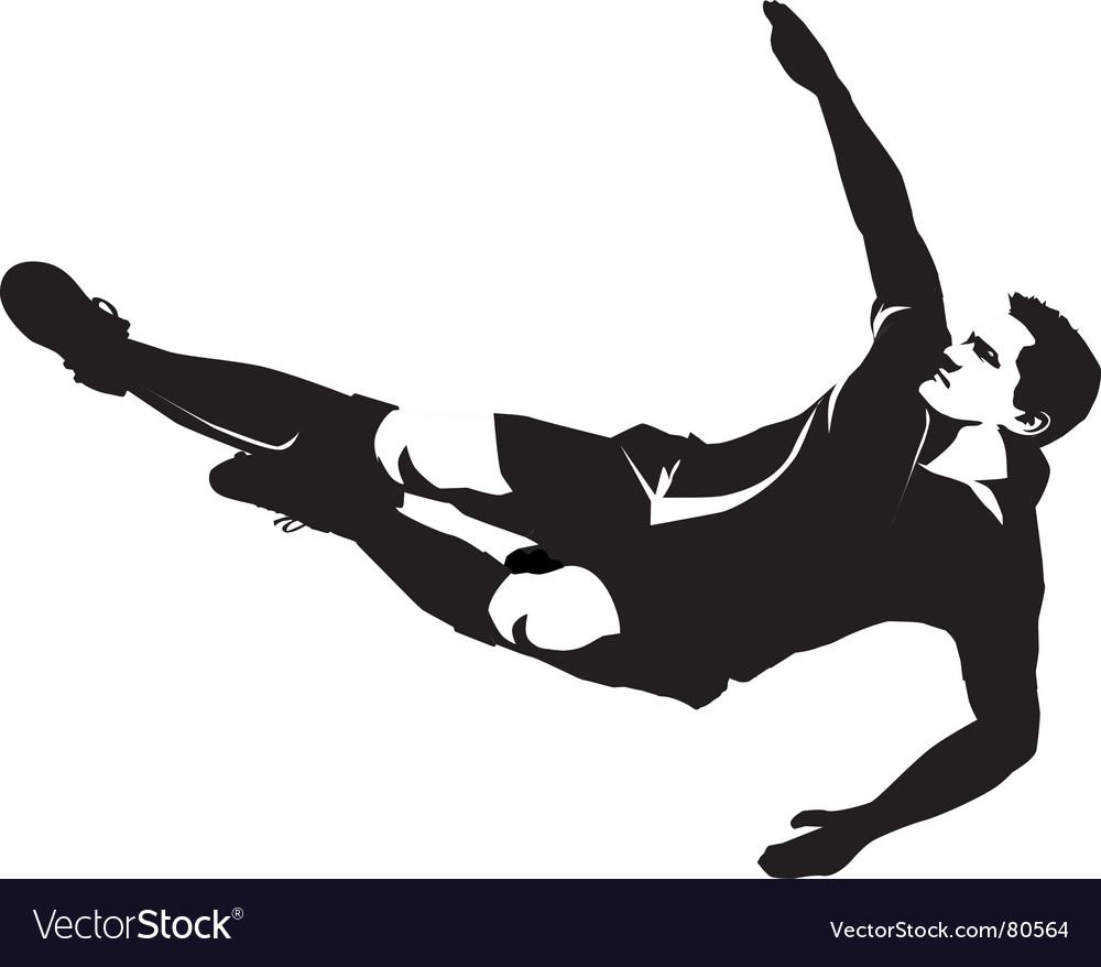 Footballer silhouette vector | Price: 1 Credit (USD $1)