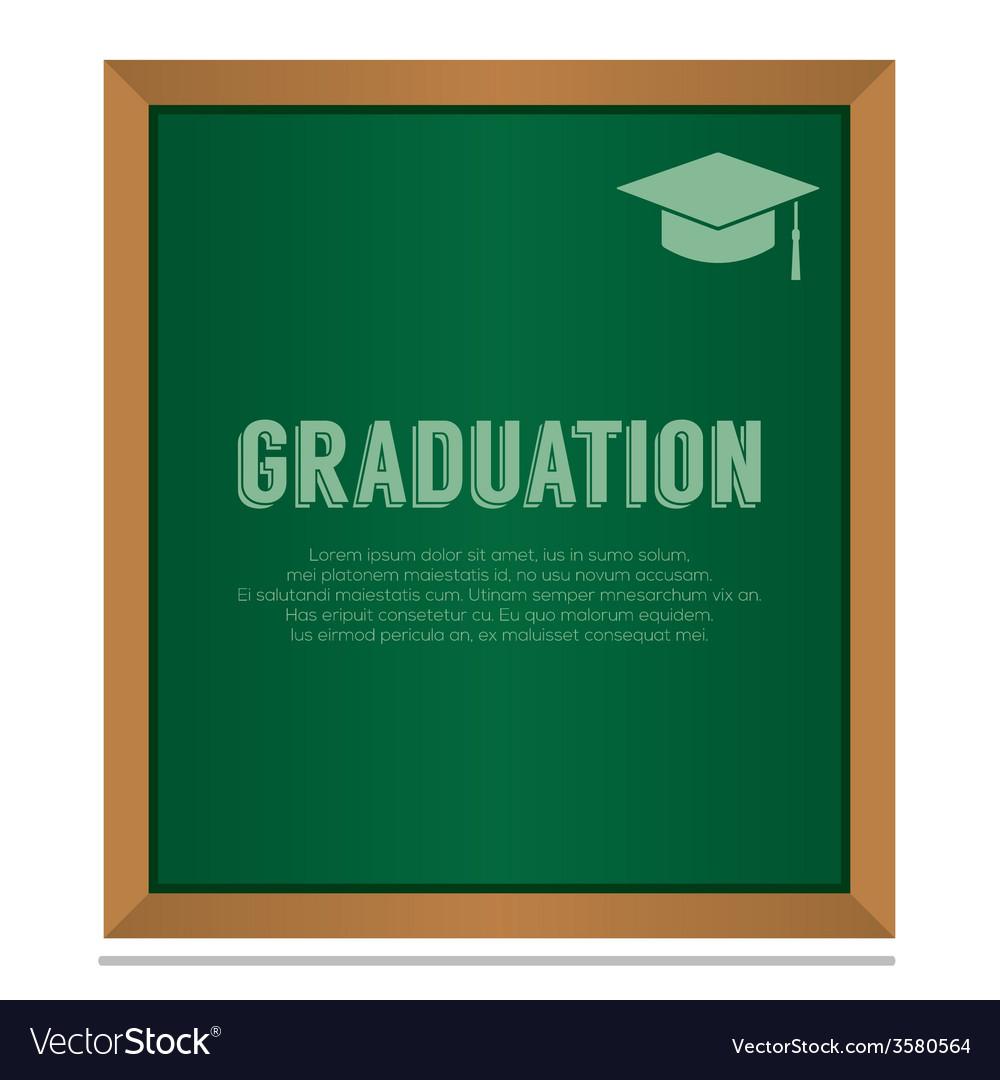 Graduation on board education concept vector   Price: 1 Credit (USD $1)