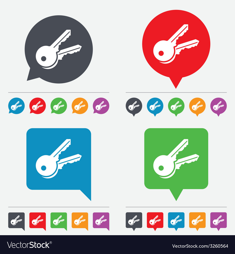 Keys sign icon unlock tool symbol vector | Price: 1 Credit (USD $1)