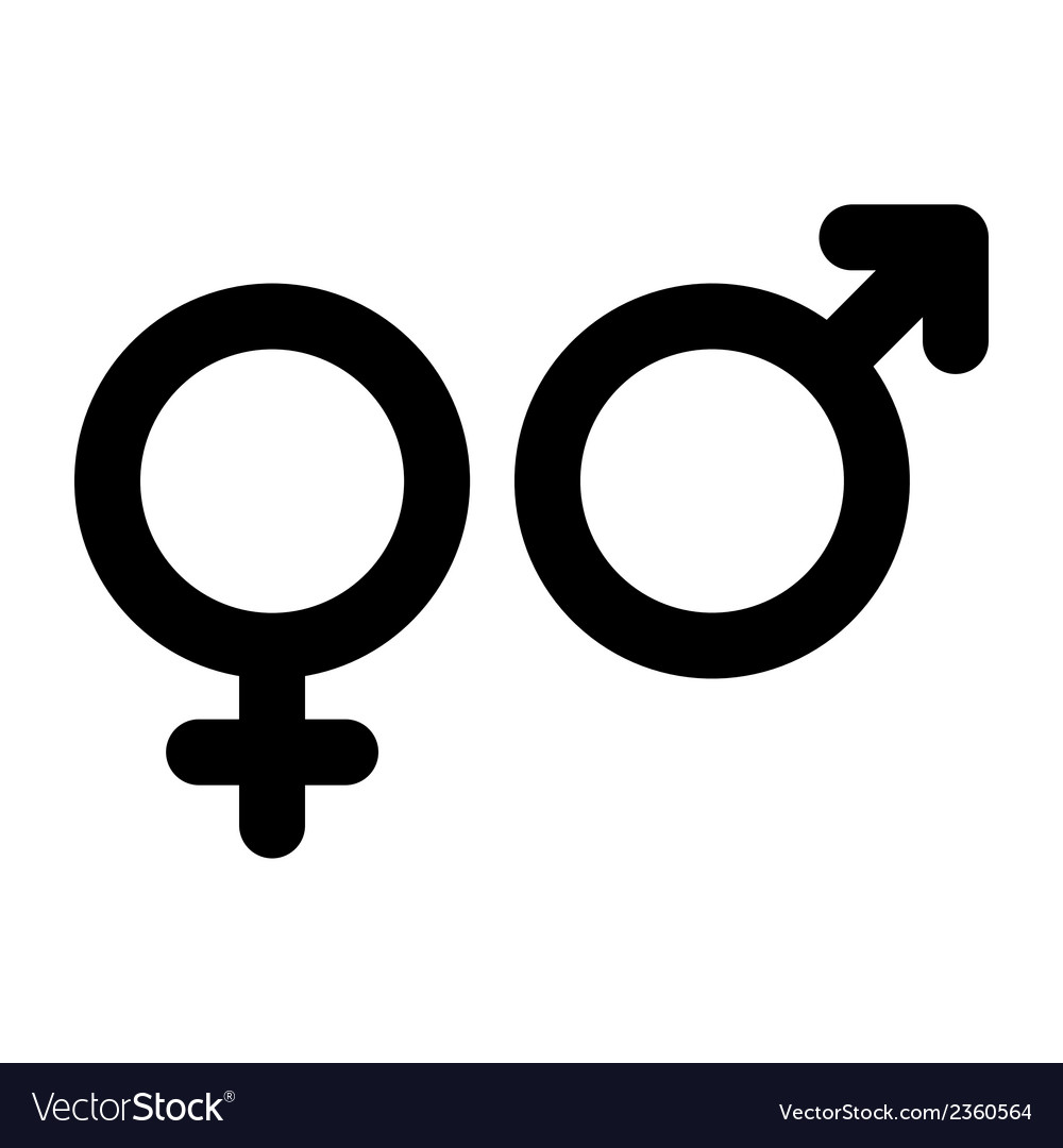 Male and female sign gender symbol vector | Price: 1 Credit (USD $1)
