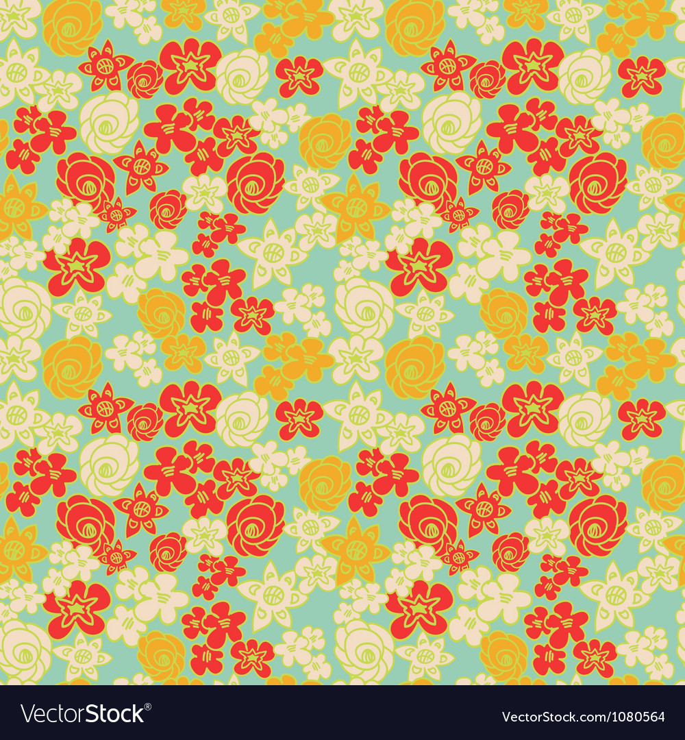 Ornate floral endless color pattern vector | Price: 1 Credit (USD $1)