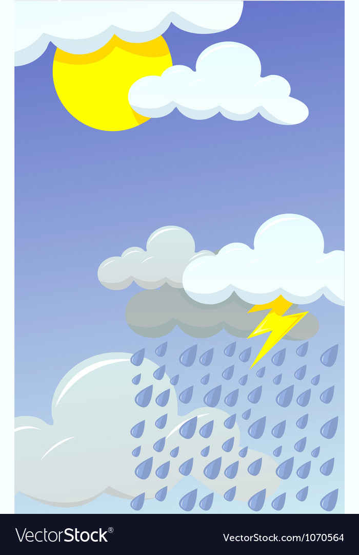 Rainy day vector | Price: 1 Credit (USD $1)