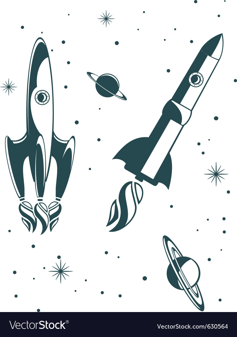 Rocket ship pattern vector | Price: 1 Credit (USD $1)