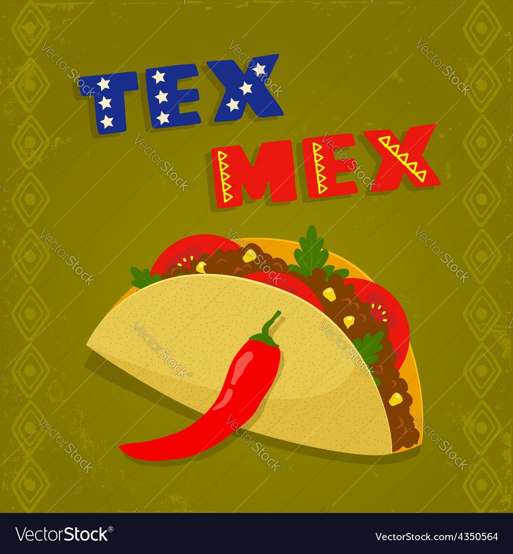 Tex mex taco vector | Price: 1 Credit (USD $1)