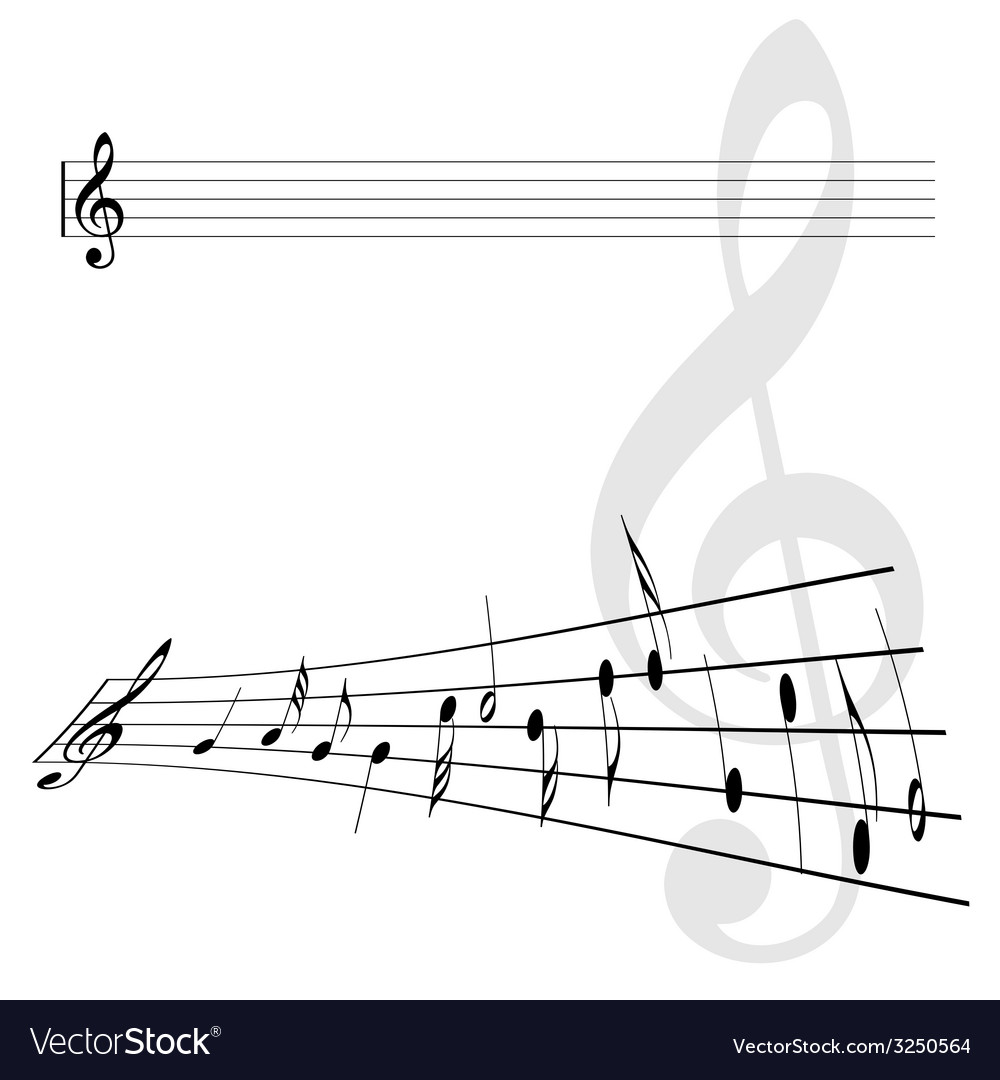 Violin key and notes vector | Price: 1 Credit (USD $1)