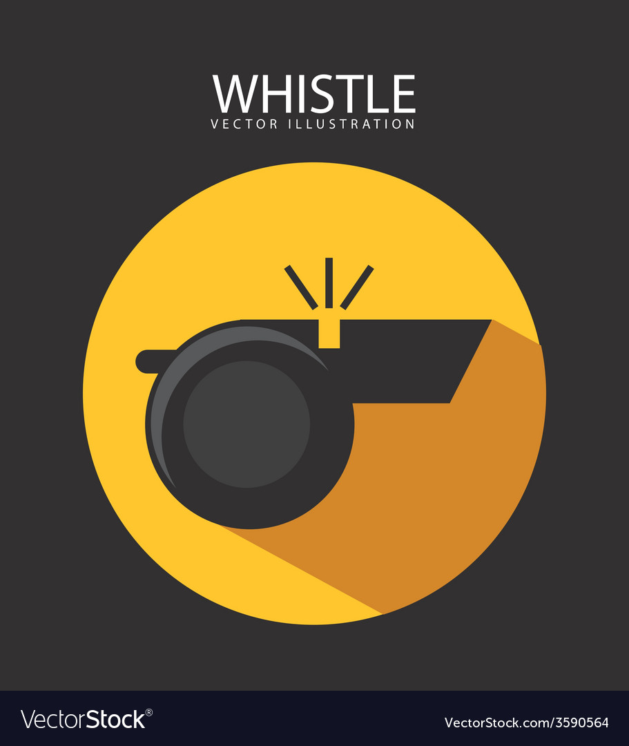 Whistle icon vector | Price: 1 Credit (USD $1)