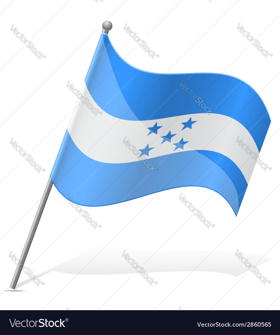Flag of honduras vector | Price: 1 Credit (USD $1)