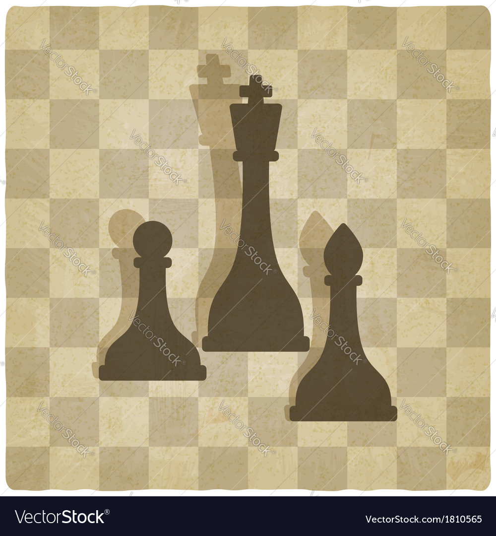 Sport chess logo old background vector | Price: 1 Credit (USD $1)