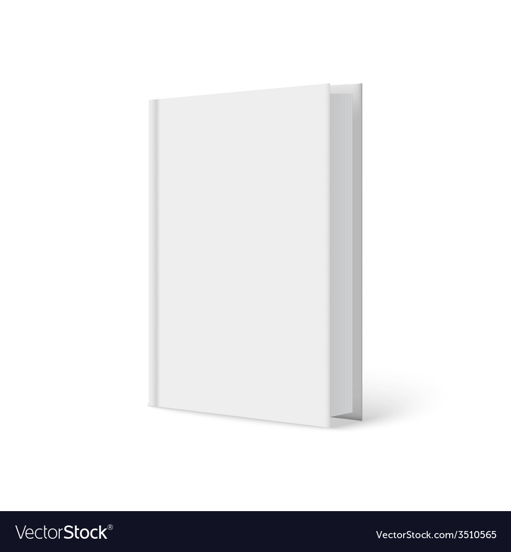 Vertically standing template books on a white vector | Price: 1 Credit (USD $1)