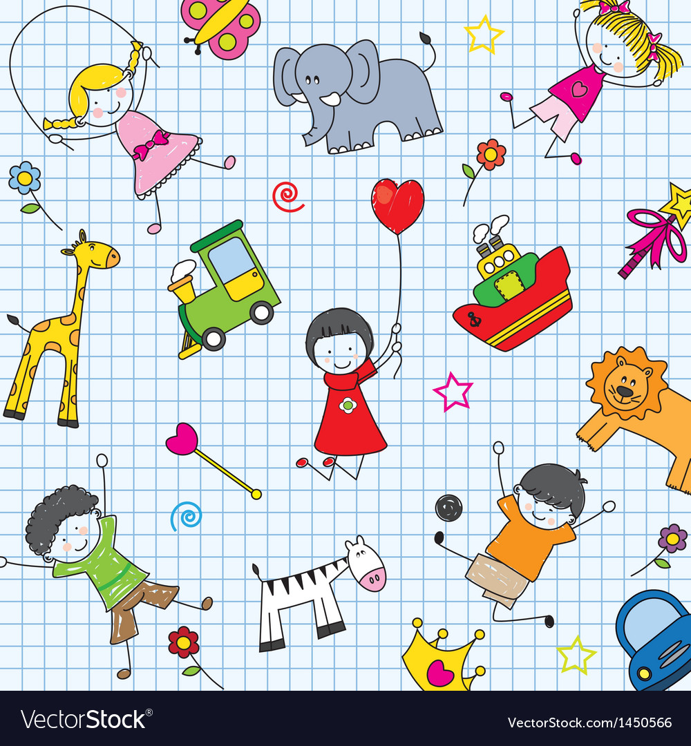 Background children vector | Price: 1 Credit (USD $1)