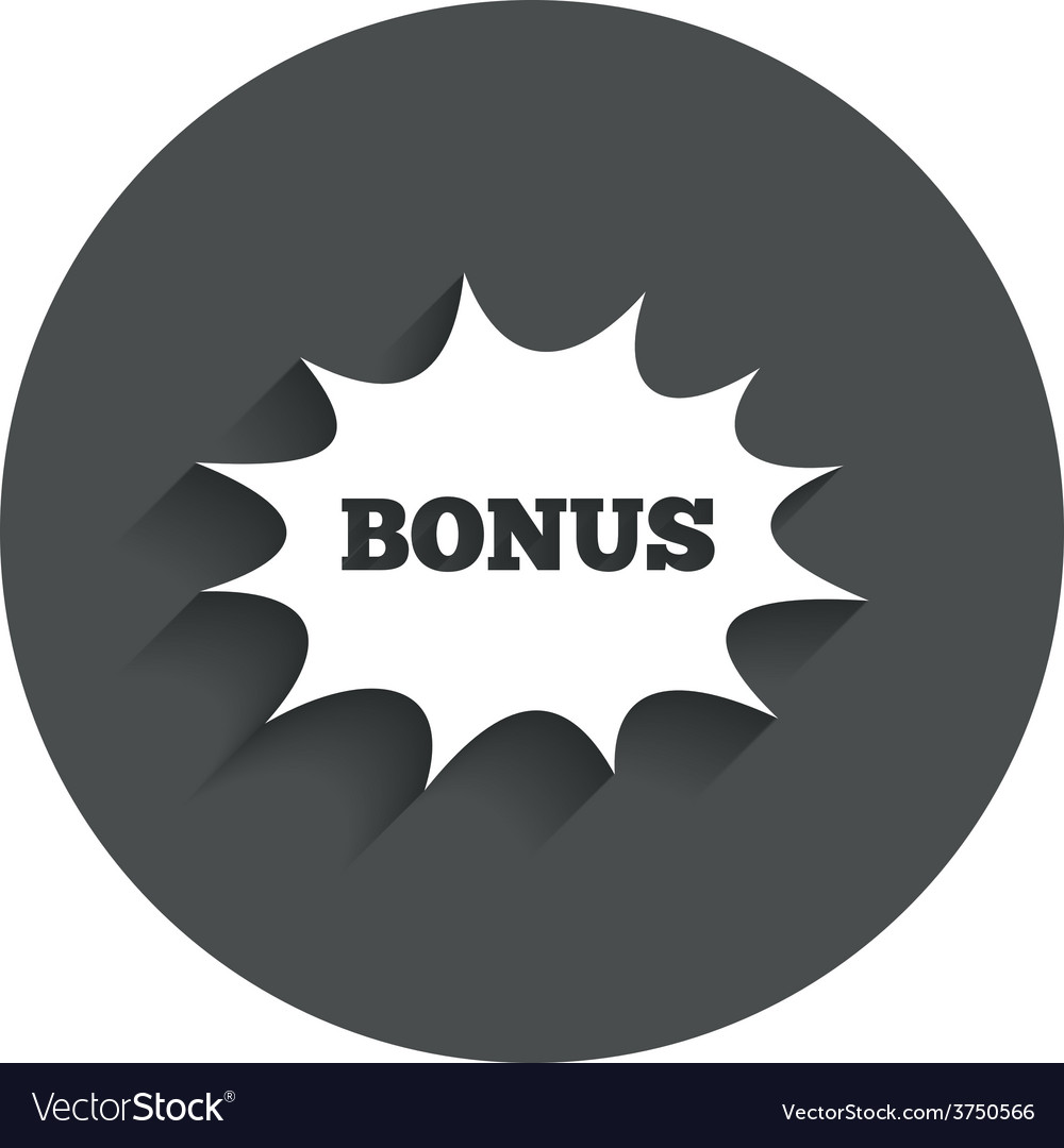 Bonus sign icon explosion cartoon bubble symbol vector | Price: 1 Credit (USD $1)