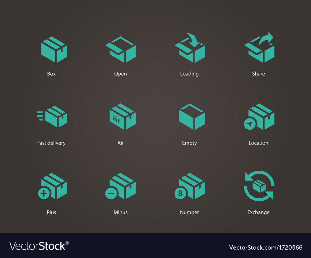 Box icons vector | Price: 1 Credit (USD $1)