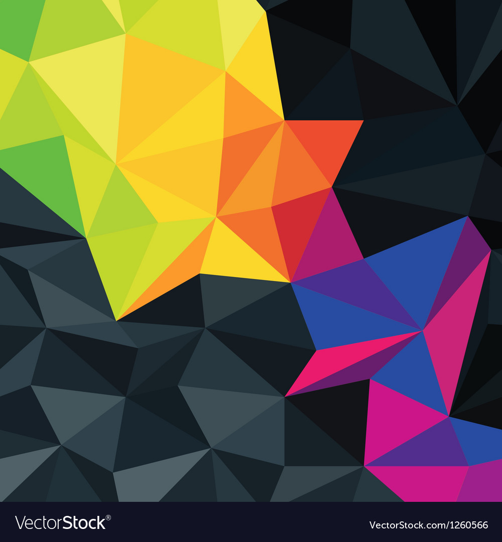 Dark triangles texture with color accent vector | Price: 1 Credit (USD $1)