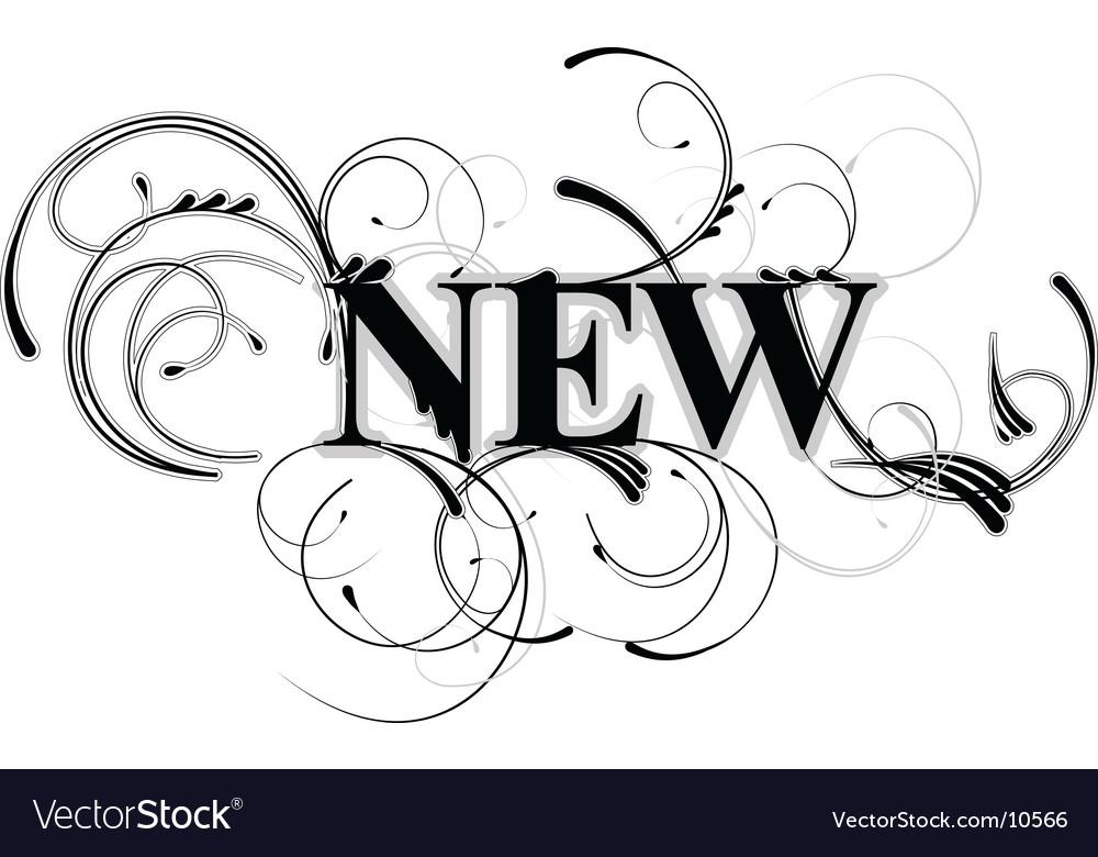 Decorative new text vector | Price: 1 Credit (USD $1)