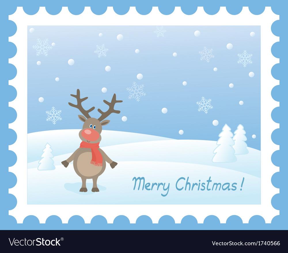Deer snow vector   Price: 1 Credit (USD $1)