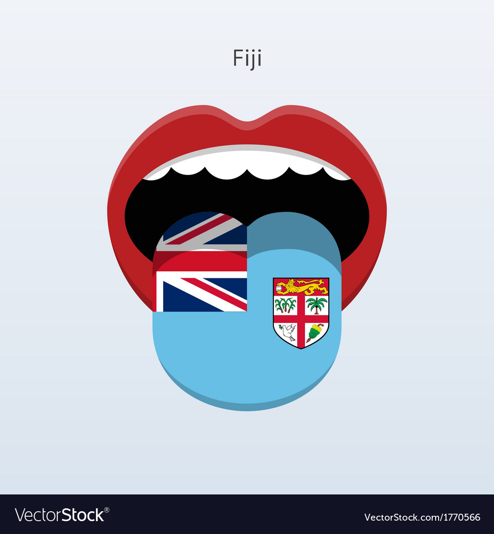 Fiji language abstract human tongue vector | Price: 1 Credit (USD $1)