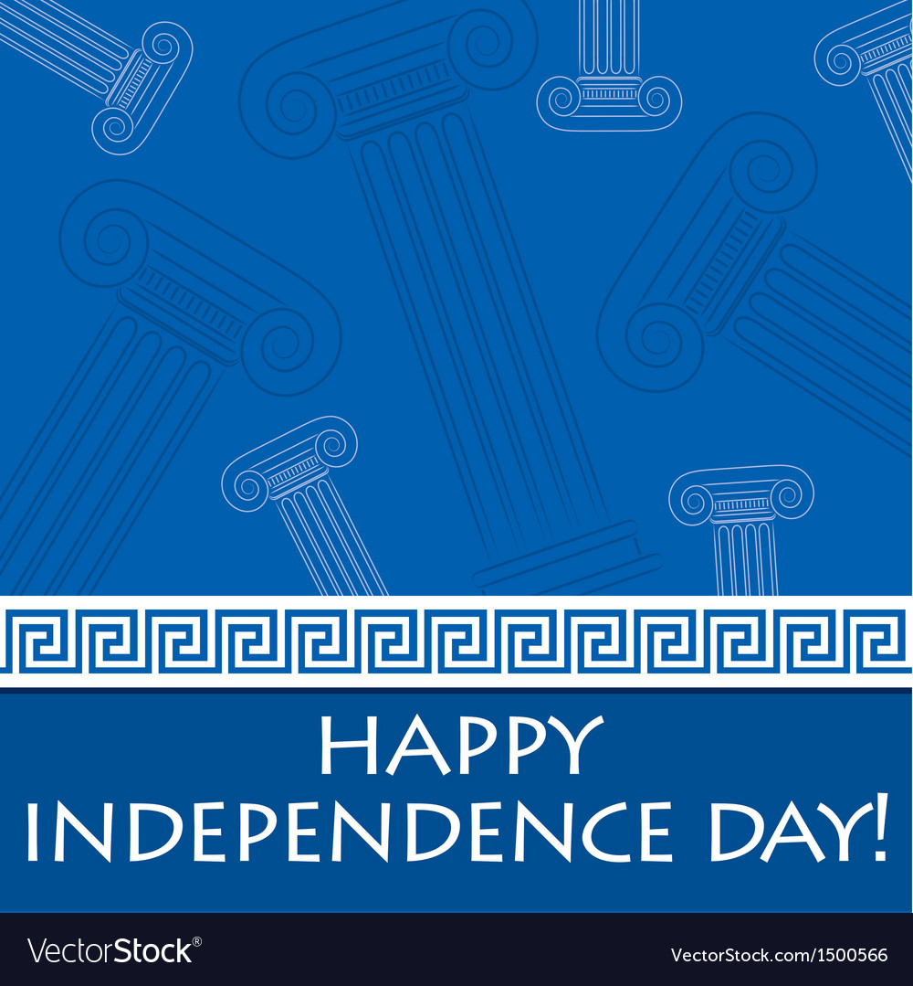 Greek independence day vector | Price: 1 Credit (USD $1)