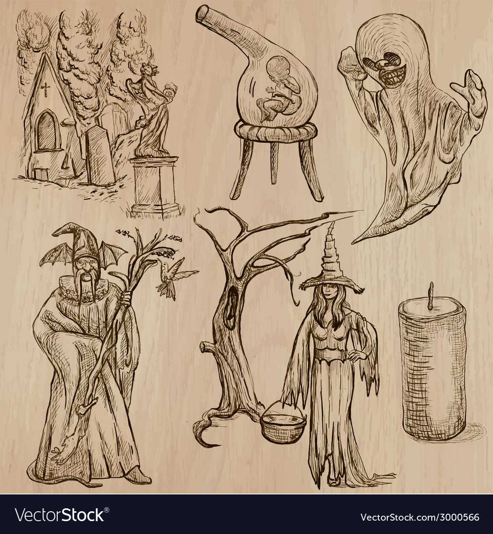 Halloween monsters magic - collection vector   Price: 1 Credit (USD $1)
