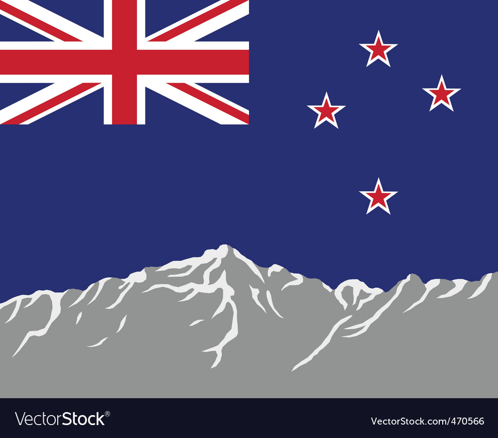 New zealand flag vector | Price: 1 Credit (USD $1)