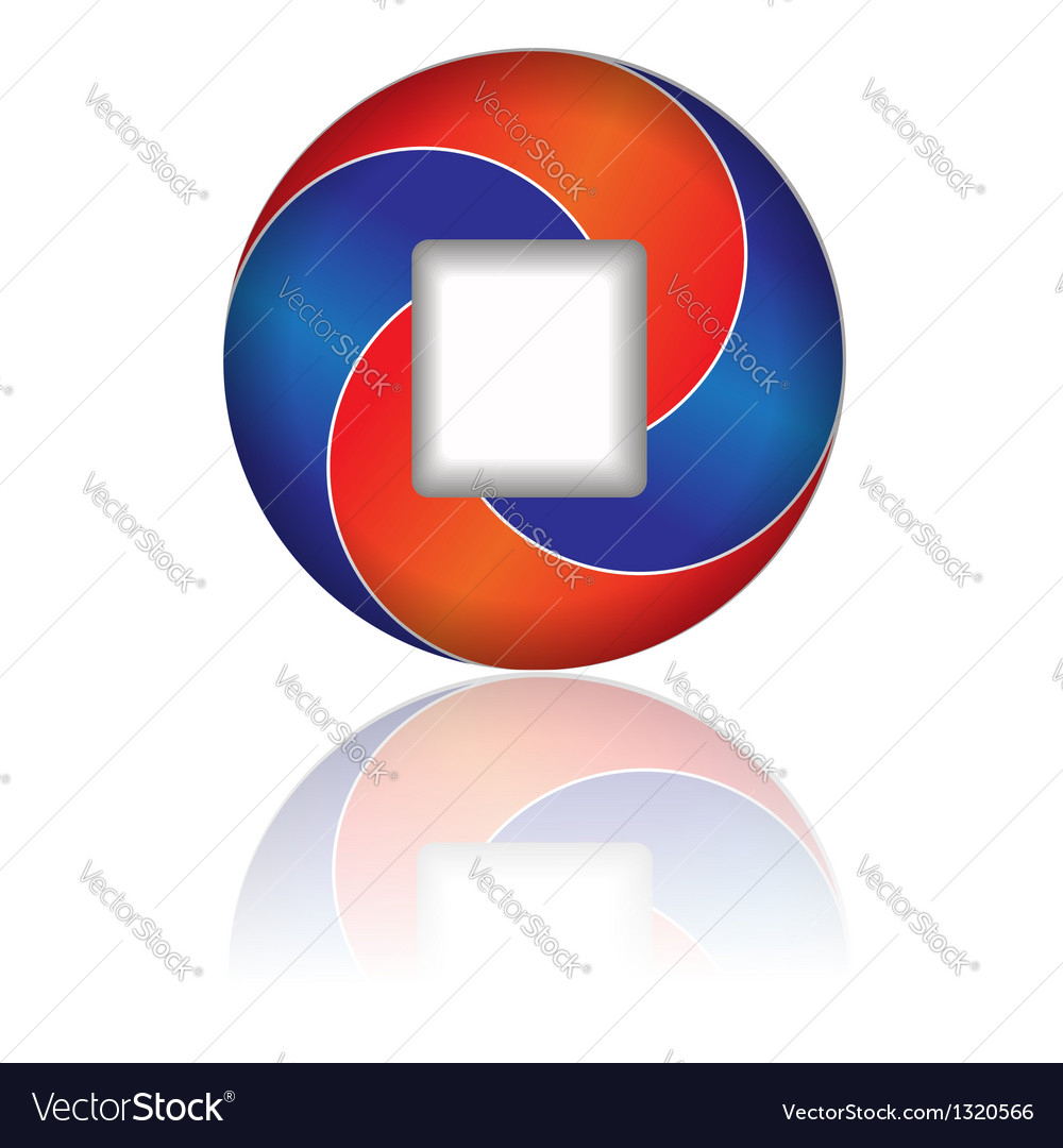 Red and blue icon vector | Price: 1 Credit (USD $1)