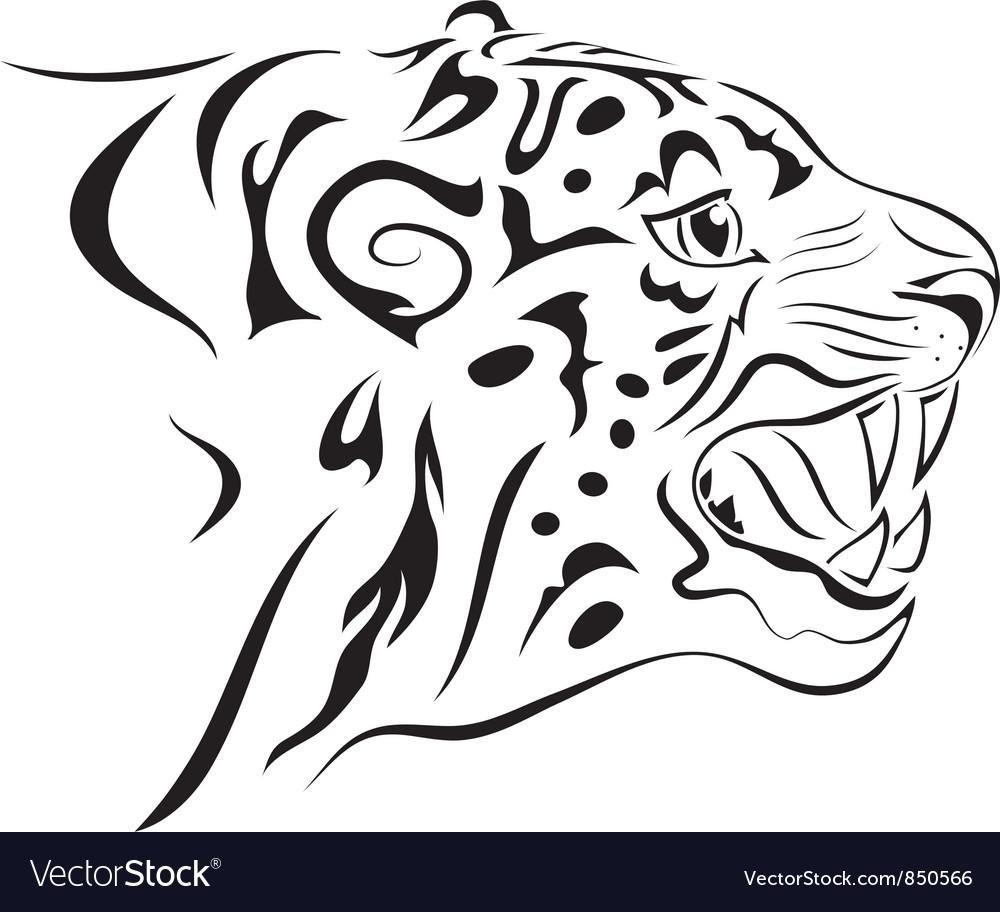 Tiger tattoo vector   Price: 1 Credit (USD $1)