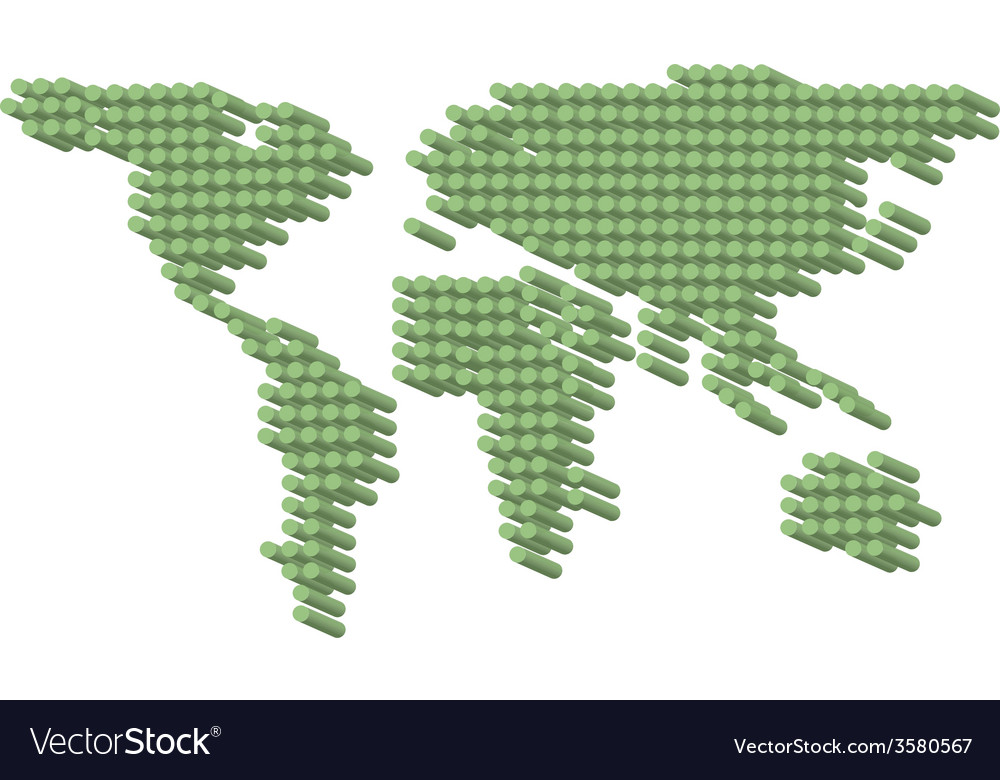 3d green dots earth vector | Price: 1 Credit (USD $1)