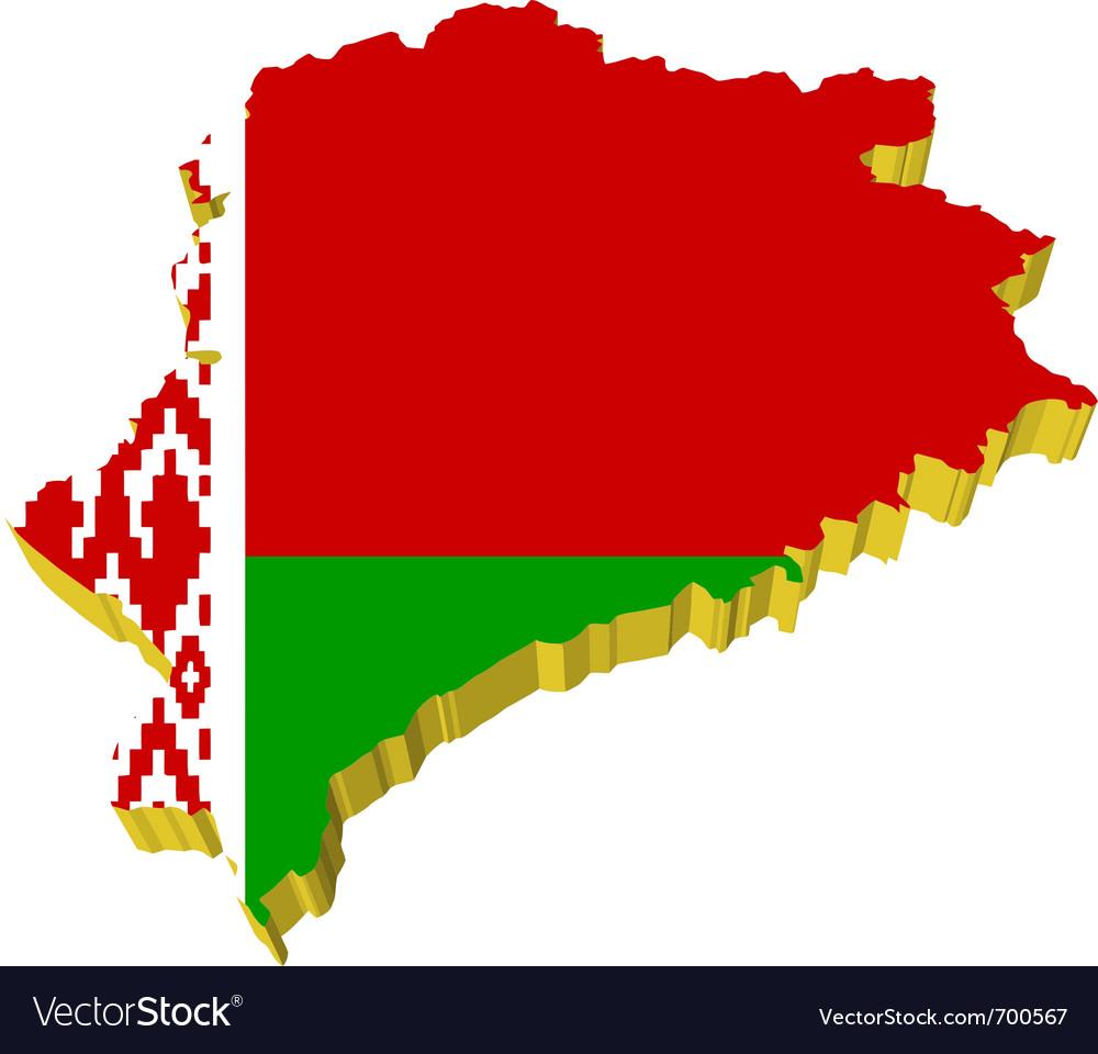 3d map of belarus vector | Price: 1 Credit (USD $1)