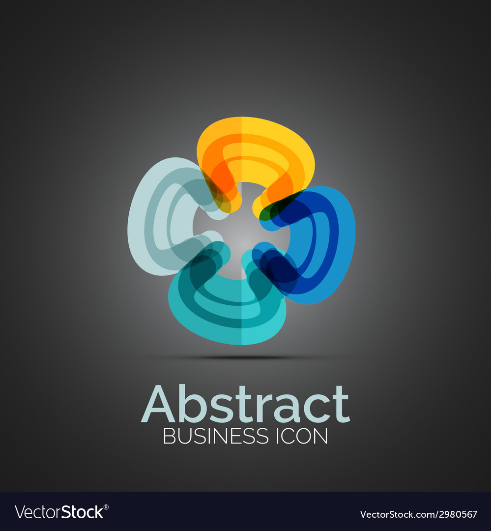 Abstract symmetric business icon vector   Price: 1 Credit (USD $1)