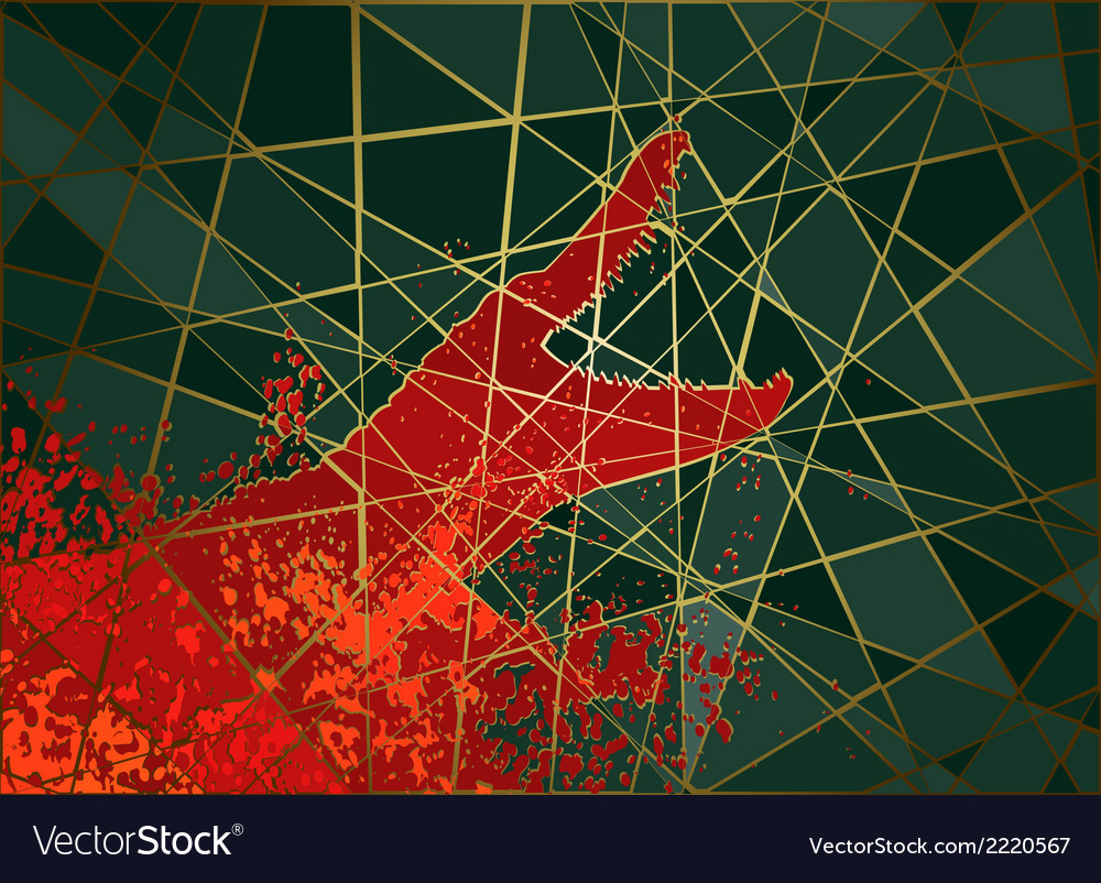 Crocodile attack mosaic vector | Price: 1 Credit (USD $1)