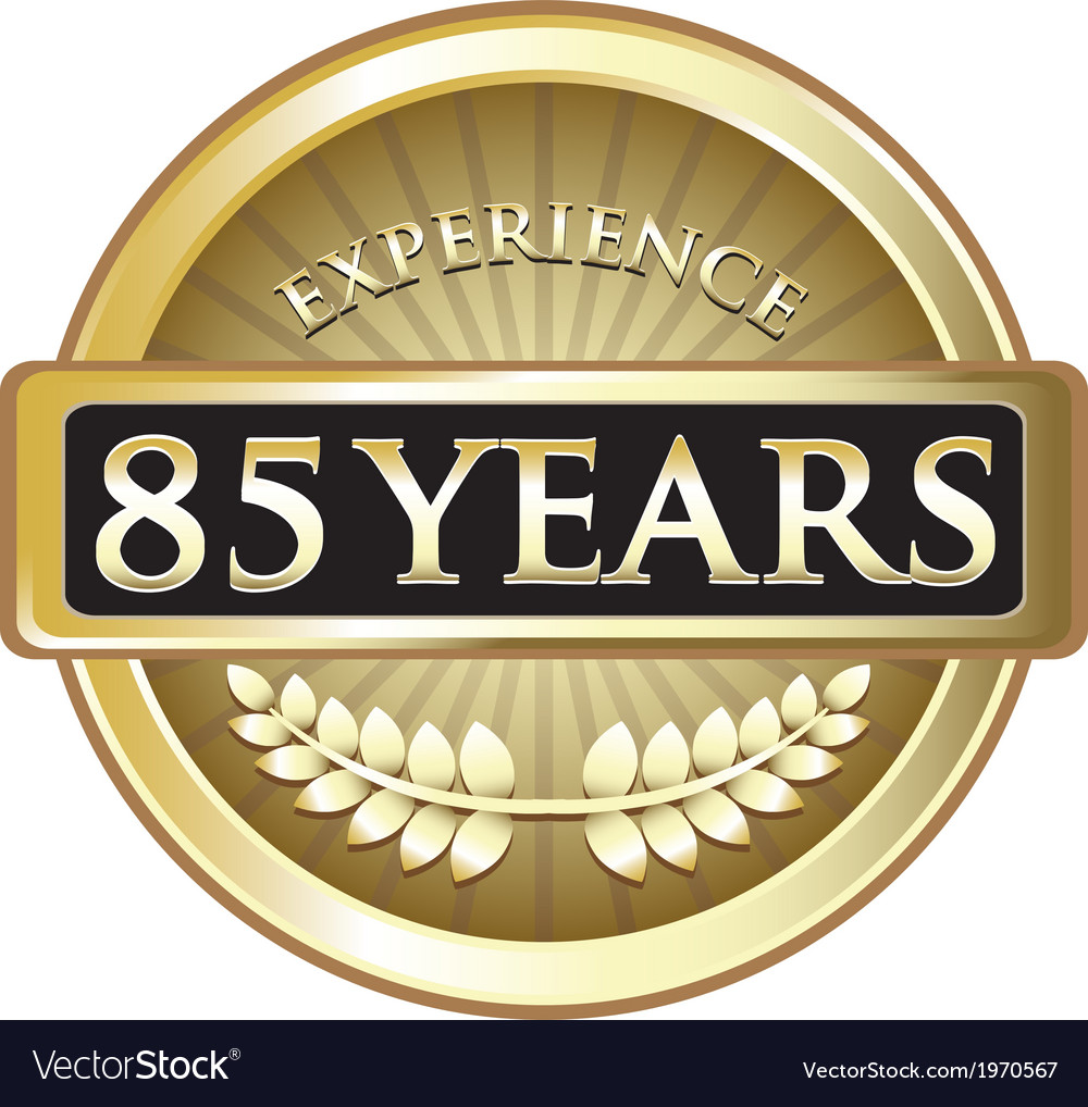 Eighty five years experience gold vector | Price: 1 Credit (USD $1)