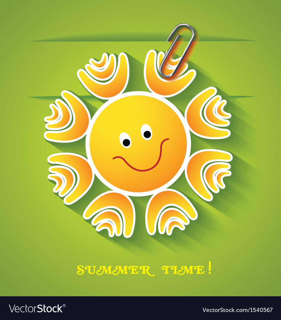 Greeting card with sun vector | Price: 1 Credit (USD $1)