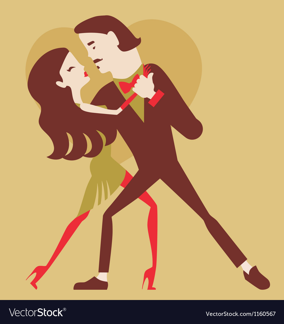 Man and woman dancing vector | Price: 1 Credit (USD $1)