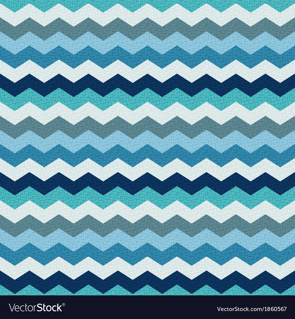 Seamless retro zig zag texture background vector | Price: 1 Credit (USD $1)