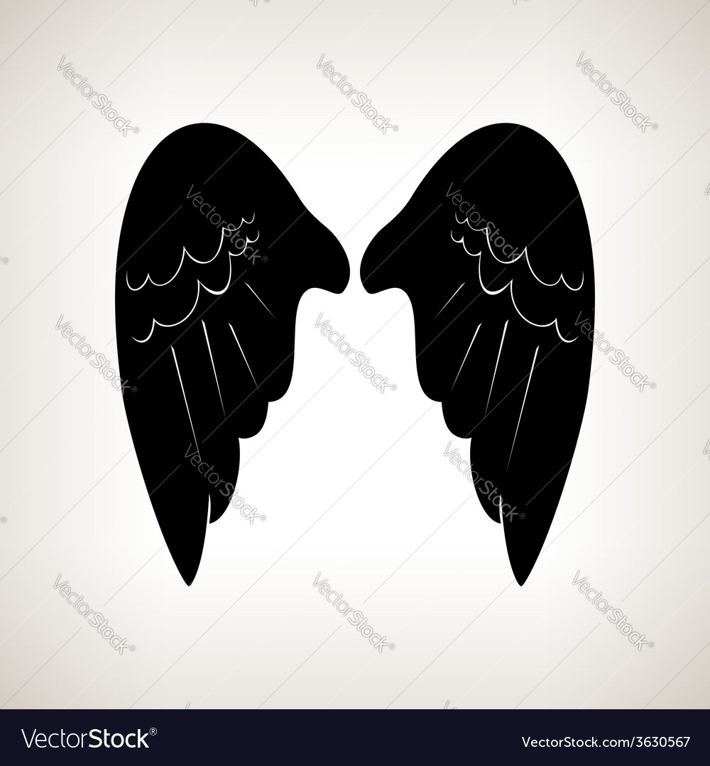 Silhouette wings vector | Price: 1 Credit (USD $1)