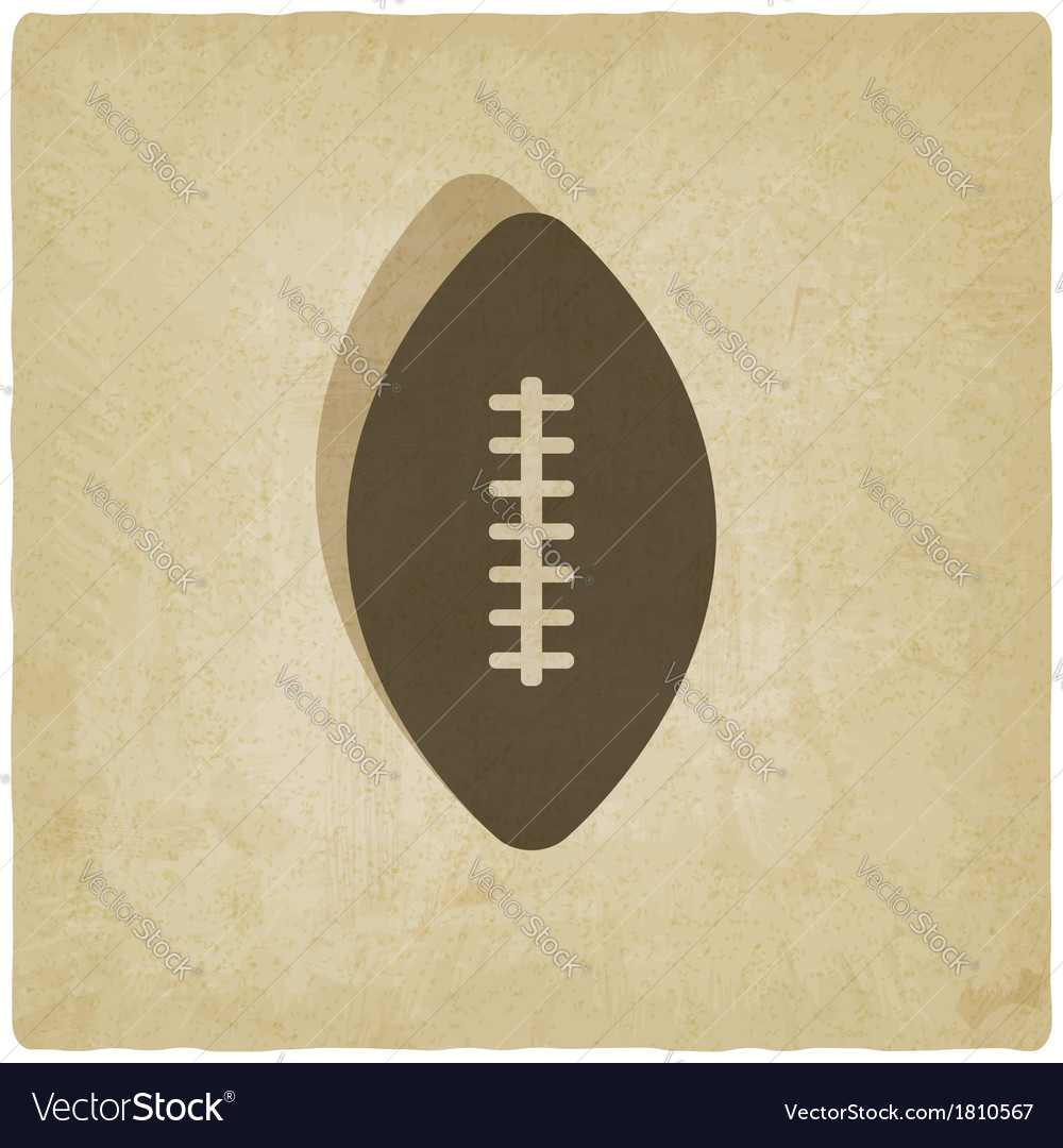 Sport football logo old background vector | Price: 1 Credit (USD $1)