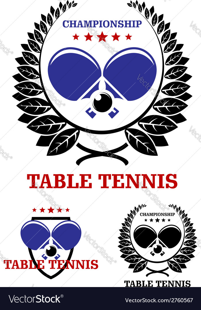 Table tennis emblems vector | Price: 1 Credit (USD $1)