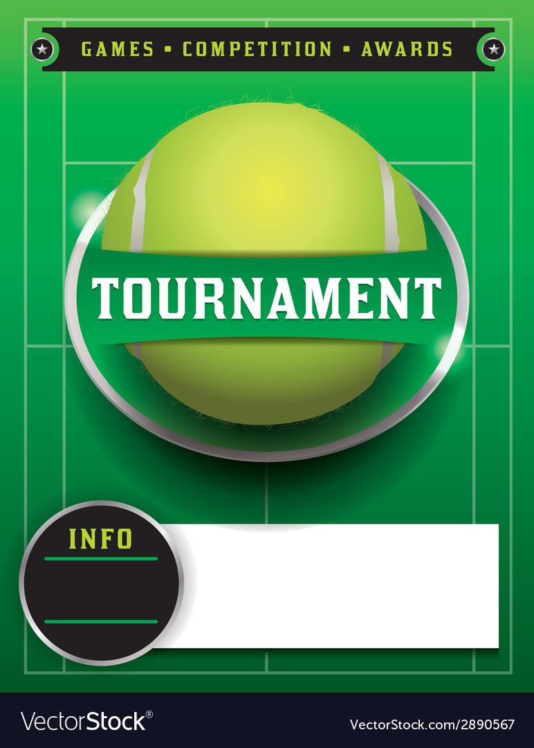 Tennis tournament template vector | Price: 1 Credit (USD $1)