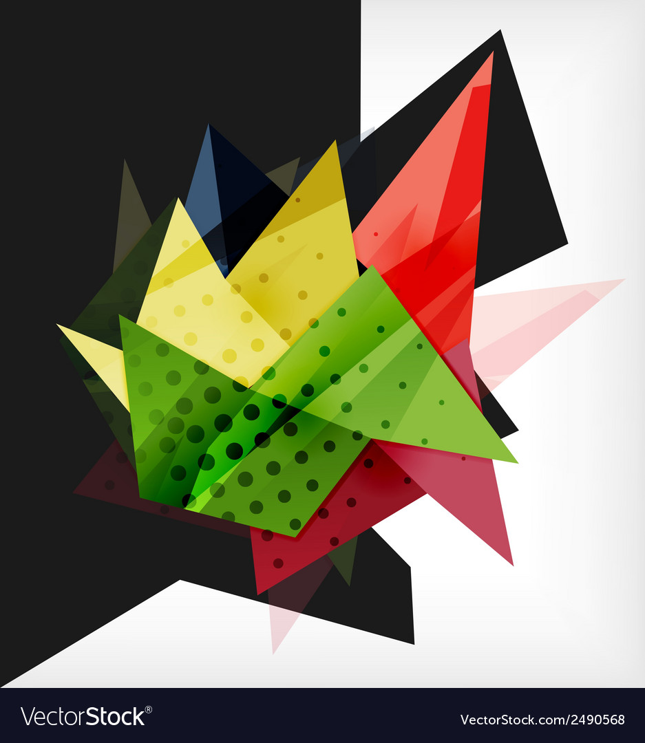 Abstract composition 3d geometric shapes vector | Price: 1 Credit (USD $1)