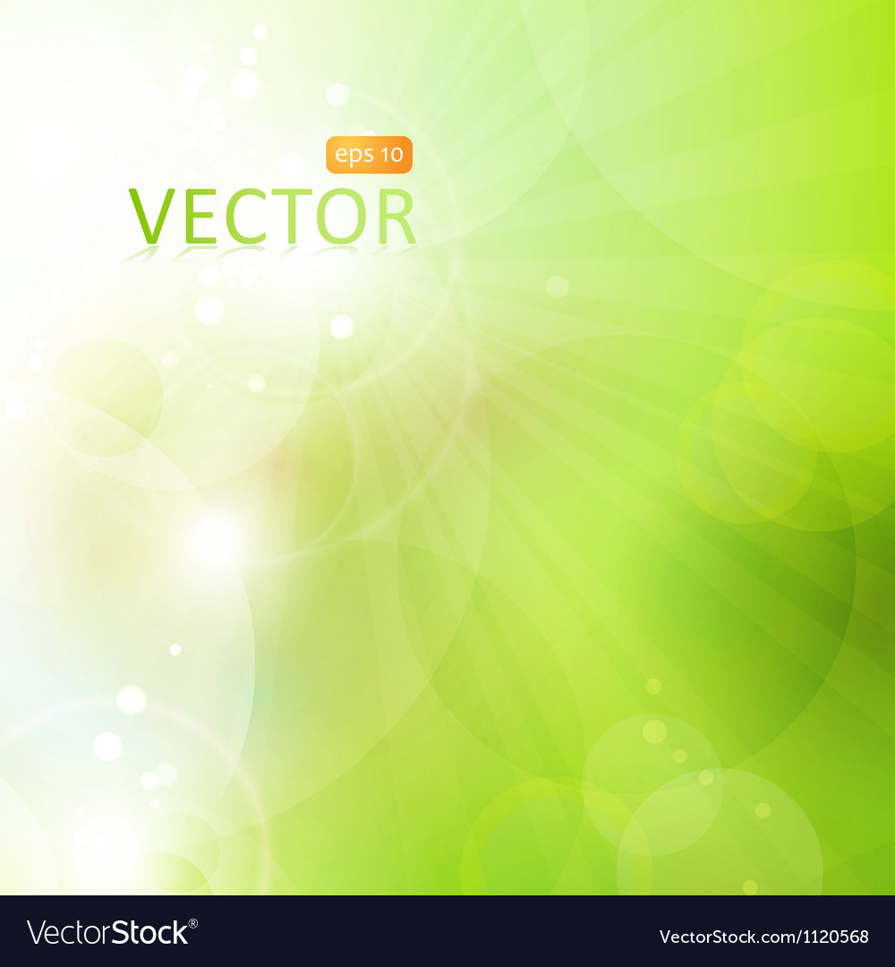 Abstract green bokeh background with lights vector | Price: 1 Credit (USD $1)