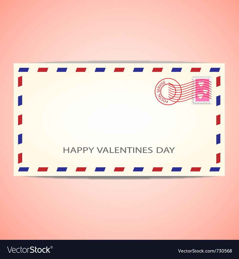 Air mail envelope for valentines day vector | Price: 1 Credit (USD $1)