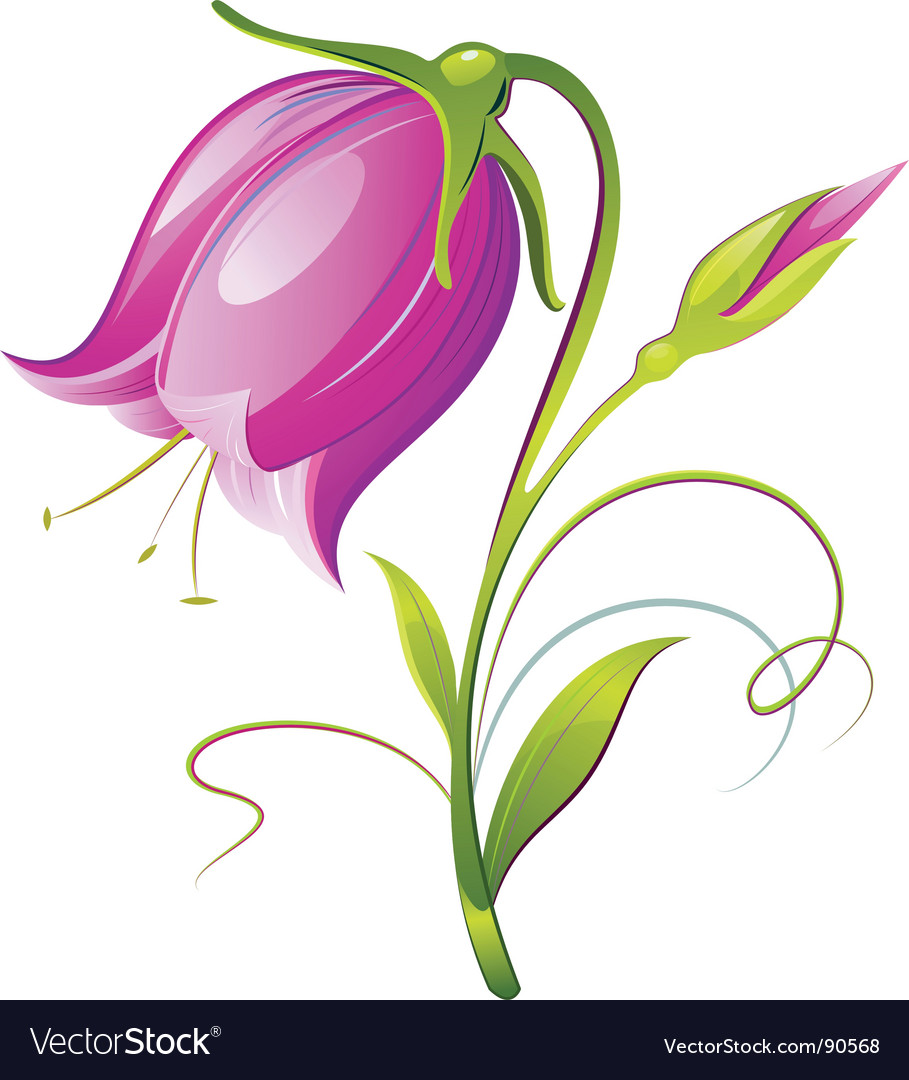 Bell flower vector | Price: 1 Credit (USD $1)